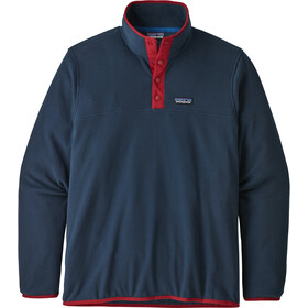 Patagonia Micro D Snap-T Pullover Herre new navy w/classic red
